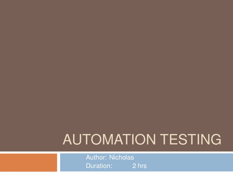 [DevDay 2017] Automation Testing - Speaker: Nghia Khuong - Project Manager at EnclaveIT