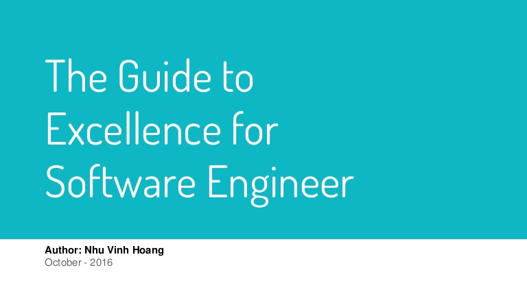 [DevDay 2017] The guide to excellence for software engineer - Speaker: Vinh Hoang - Training & IT Manager at Passerelles numeriques Vietnam