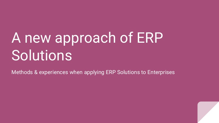[DevDay2019] A new approach of ERP solutions - By: Vu Ngoc Bang at Est Rouge