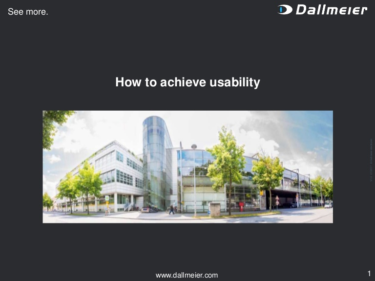 [DevDay2019] How to achieve usability - By Dr. Martin Theis, General Director at Dallmeier Vietnam